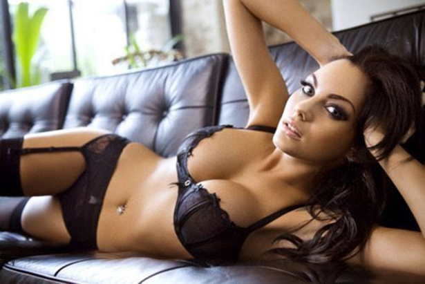 Laying on the couch