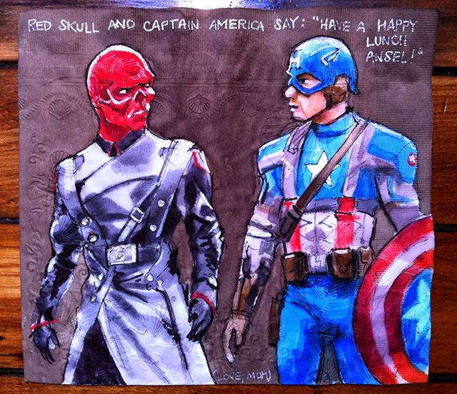 """Red Skull and Captain America"""
