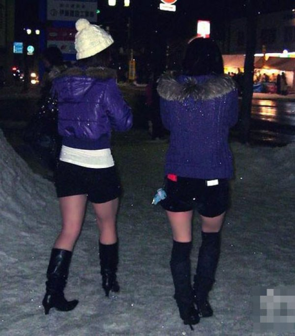 Short Shorts in the snow