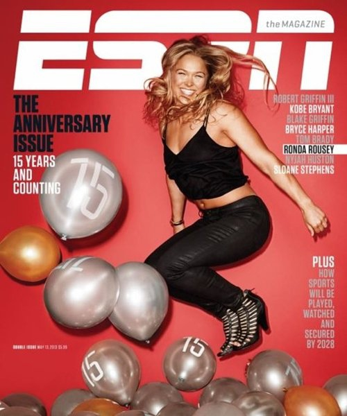Ronda Rousey Graces The Cover Of ESPN The Magazine's Anniversary Issue