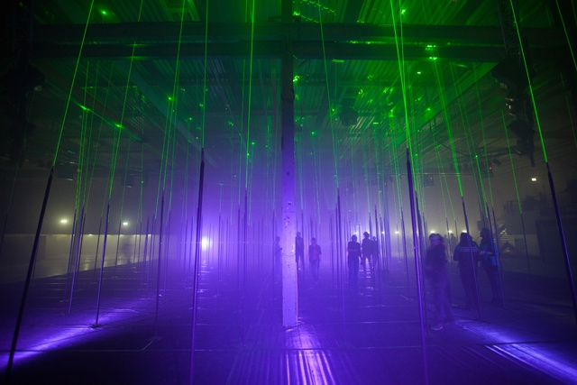 Futuristic Forest Made From Awesome Laser Beams