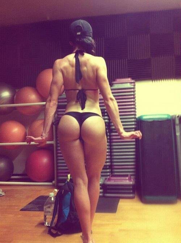 Fit Girl In weight room
