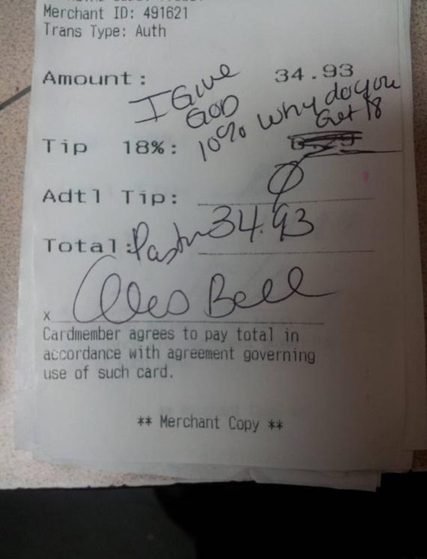 Bad Tippers