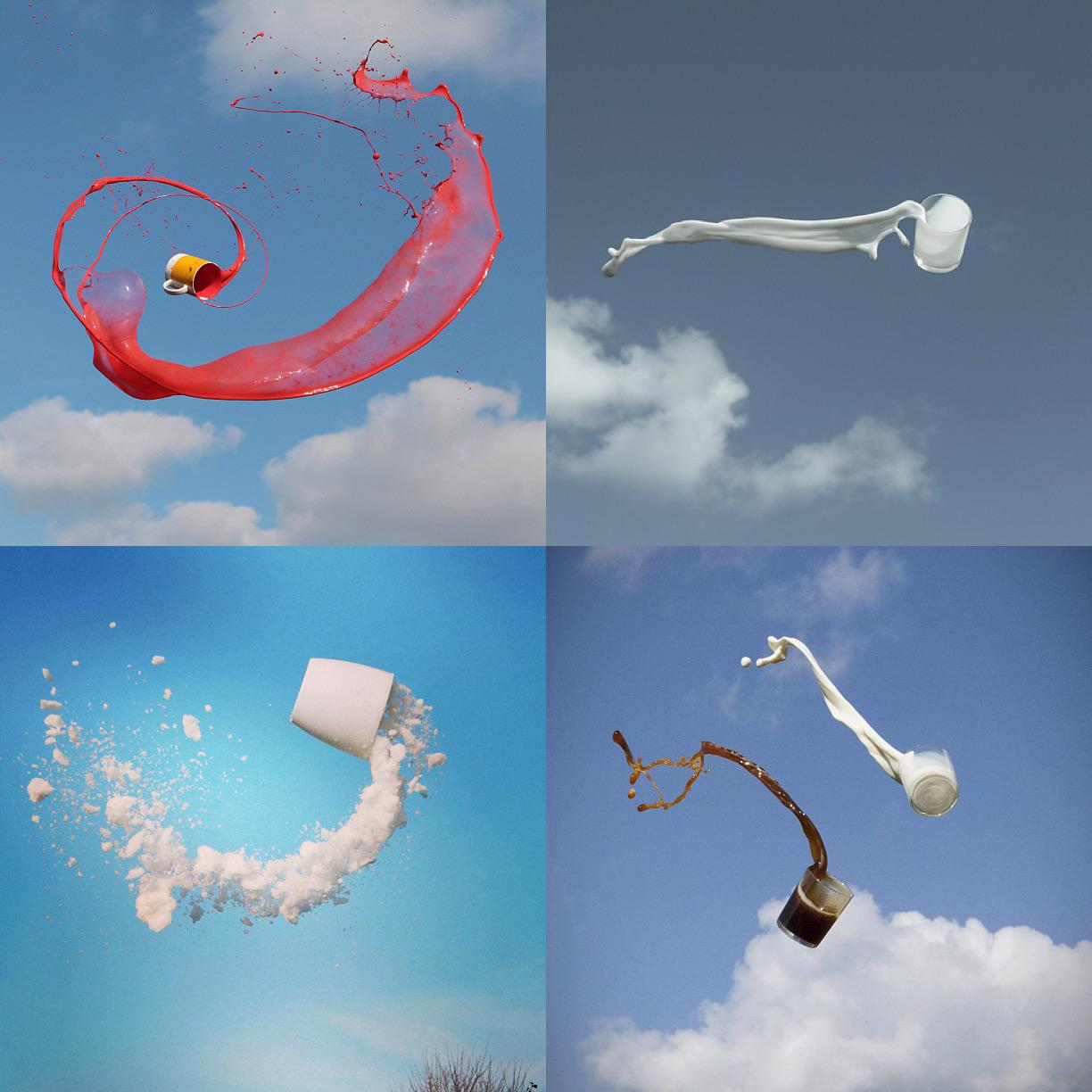 Flying Liquids in High-Speed Photography