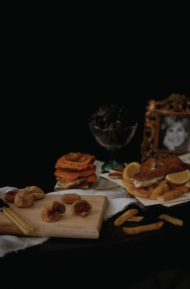 Britney Spears  Fish and chips, McDonald's cheeseburgers without the buns, 100 prunes and figs, a framed photo of Prince