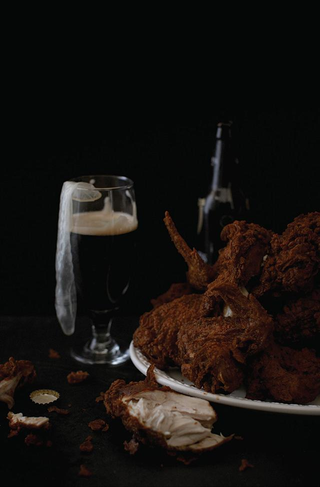 Busta Rhymes  Twenty-four pieces of fried chicken, Rough Rider condoms, Guinness.