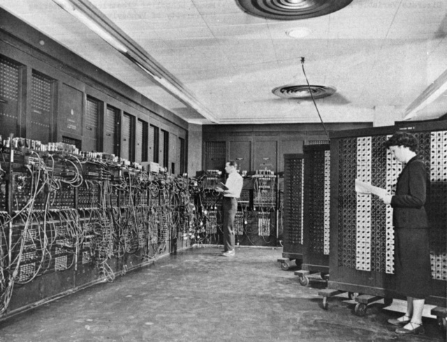 ENIAC, the first fully electronic digital computer, 1946