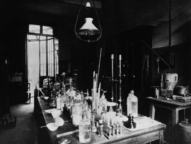 Louis Pasteur's laboratory at the Ecole Normale, c. 1885