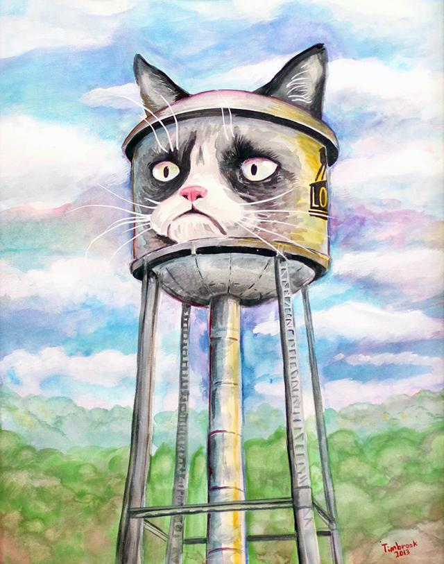 Grumpy Cat Art by Dustin Timbrook