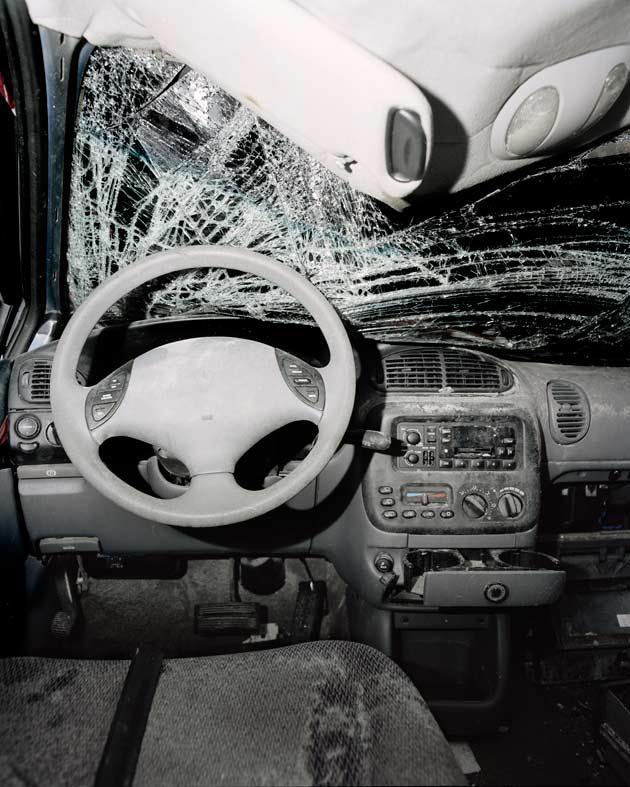 Sombre Images From Inside The Wreckage Of Car Crashes