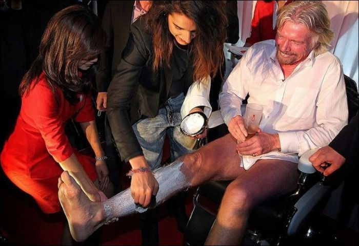 Richard Branson even shaved his legs