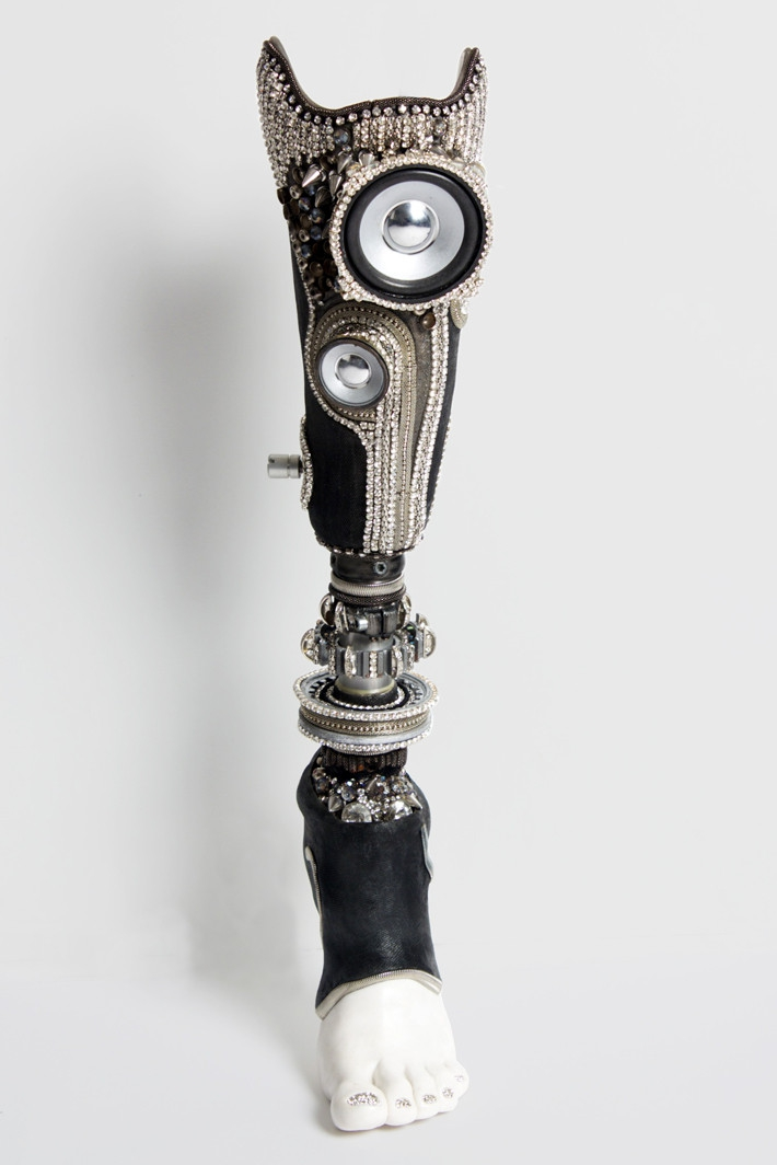 artificial limb turned into art