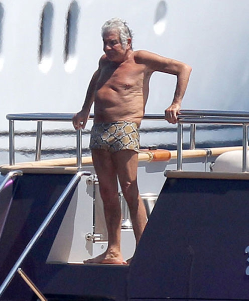 Roberto Cavalli on his yacht in Monaco