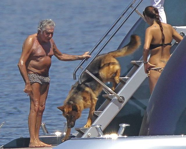 Roberto cavalli with his new girlfriend