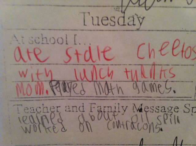 The 7-year-old who publicly outed her mom's subpar school-lunch preparations.