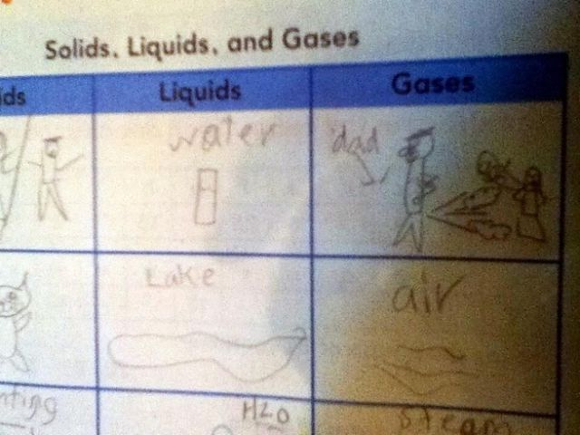 The second-grader who used science to rat out her dad.