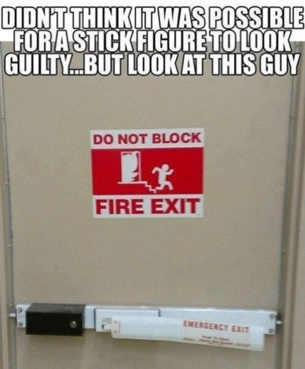Guilty Stick Figure