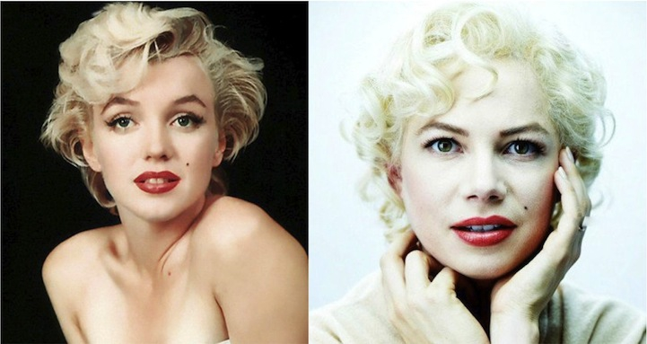 Marilyn Monroe (Michelle Williams in My Week With Marilyn)