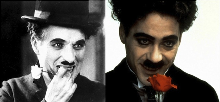 Charlie Chaplin (Robert Downey Jr. in Chaplin)