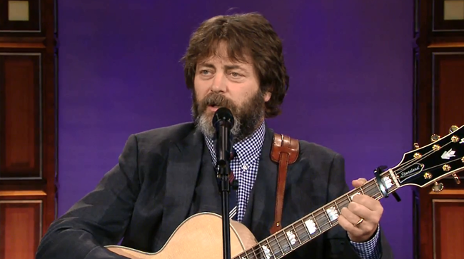 Video: Nick Offerman Sings 'Rainbow Song' On 'The Tonight Show'