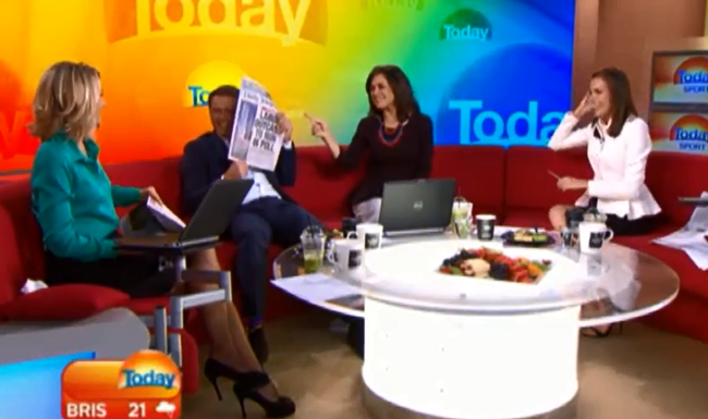 Australian Morning Show Host Pulls 'Anchorman' Prank On His Co-Host