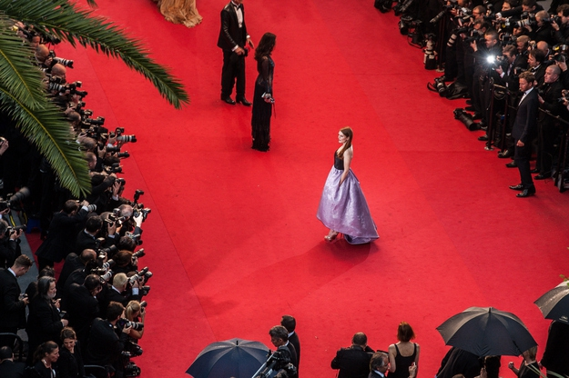 Here's Julianne Moore on the Cannes red carpet.