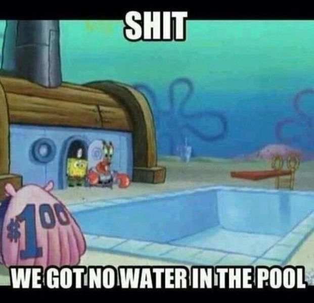 we got no water in the pool