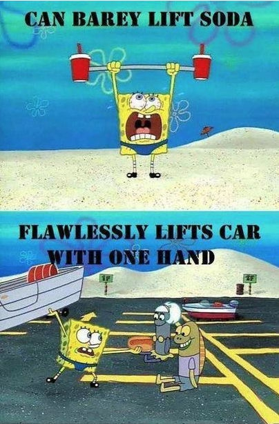 Flawlessly lifts car with one hand