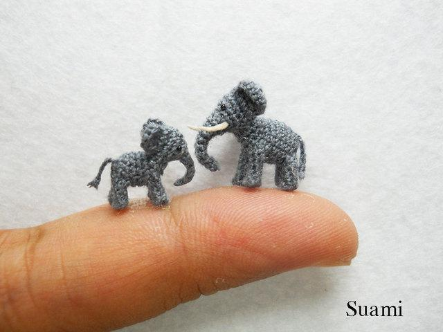 Tiny Crochet Elefants