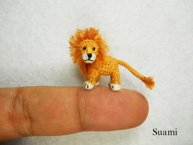 Tiny Crochet Lion