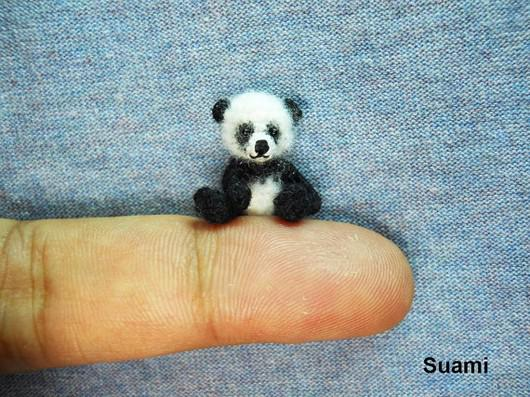 Tiny Crochet Panda Bear