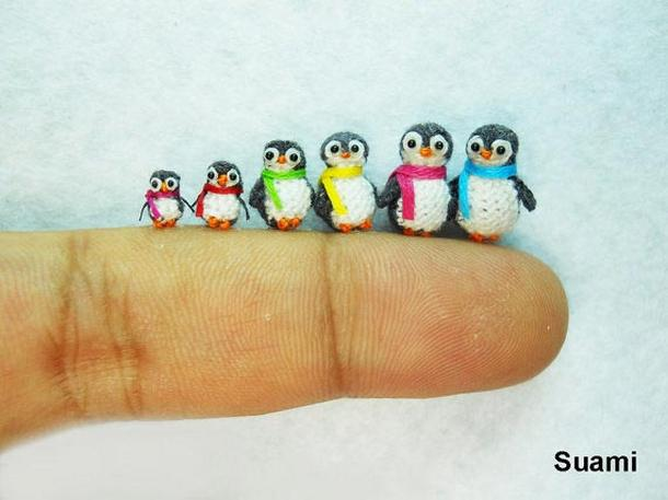 Tiny Crochet Penguins