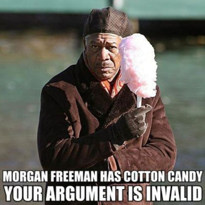 Morgan Freeman has cotton candy