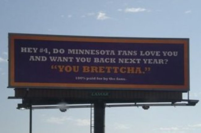 Minnesota on Bret Favre