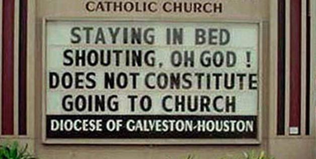 Dirty Church Sign