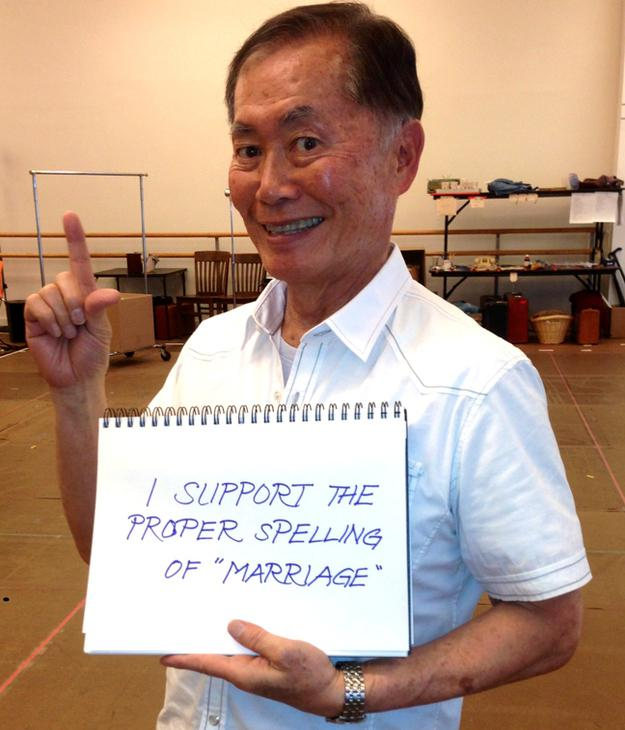 "Star Trek Star George Takei Responds to ""Traditional"" Marriage Fans от Marinara за 22 may 2013"