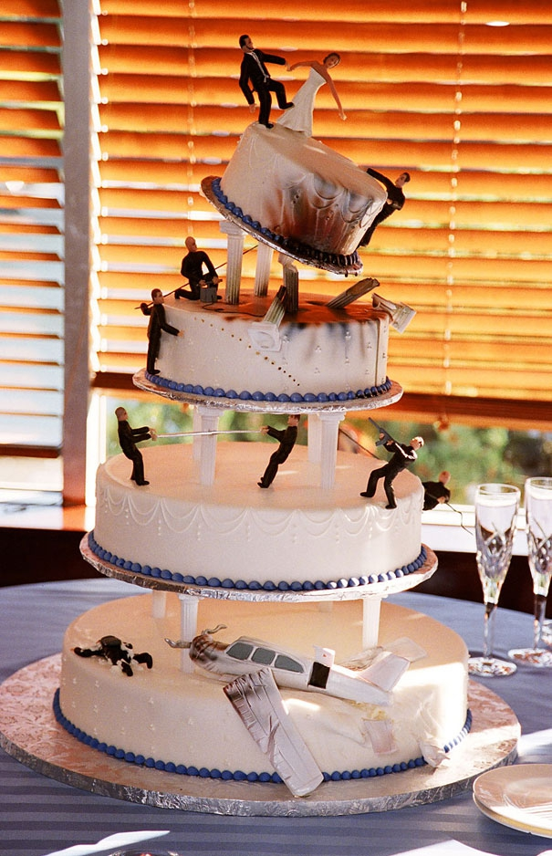 10. James Bond Wedding Cake