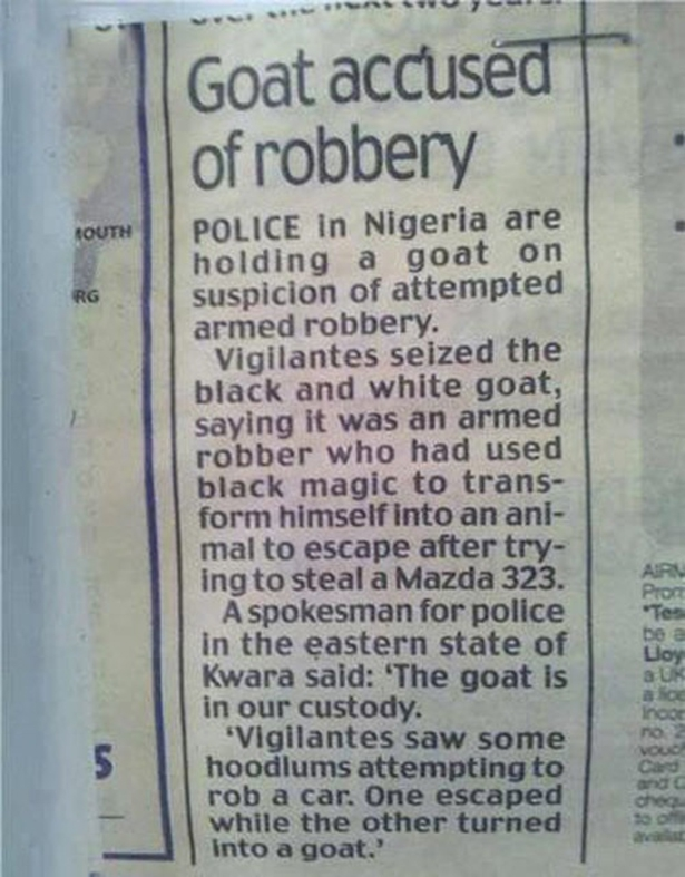 Goat Robbery