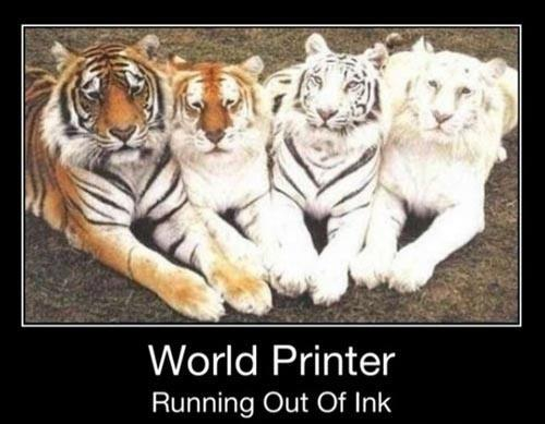 Running Out Of Ink