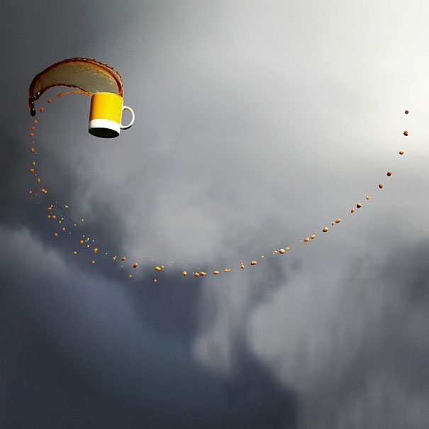 Awesome Flying Beverage Shots by Manon Wethly.