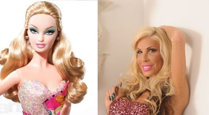 She always wanted to look like a Barbie doll