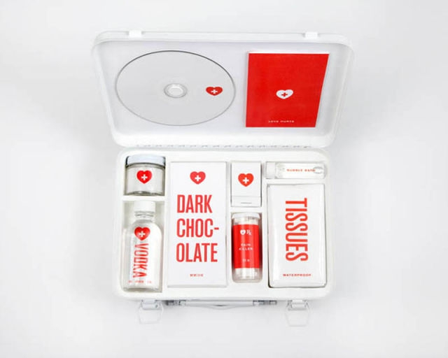 And this is what is inside of a broken heart first aid kit