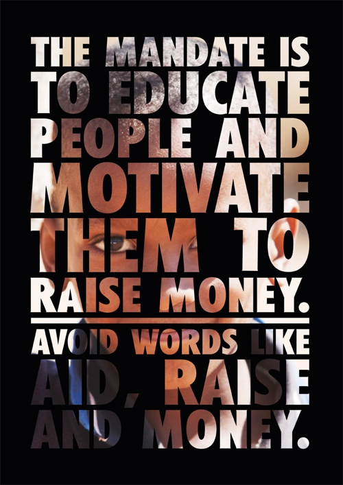Avoid words like aid, raise, money