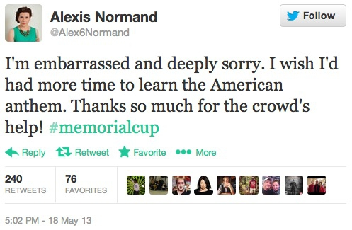 Alexis Normand's apology
