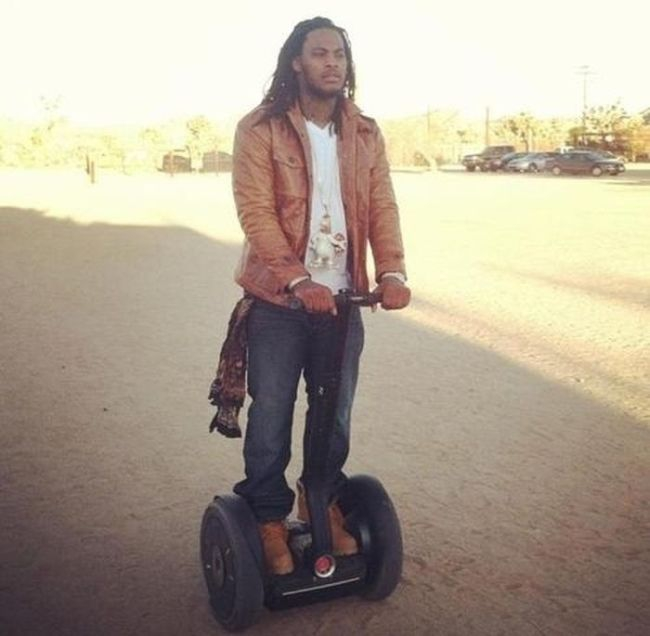 Wacka Flocka Flame taking the segway for a spin: