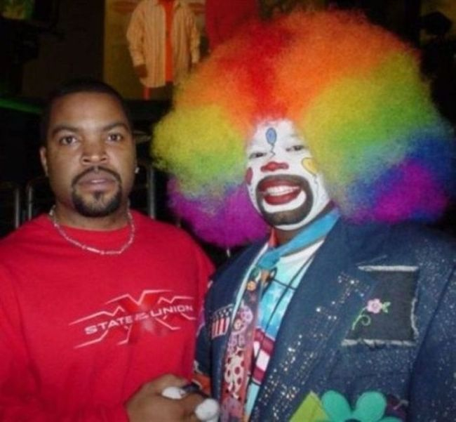 Ice Cube terrified by a clown: