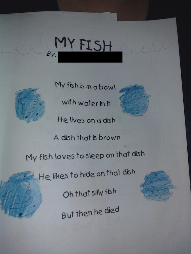 11 Examples of Hilarious Kid Poetry