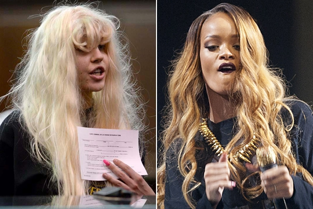 Amanda Bynes Has fallen off some imaginary ledge and lashes at Rihanna