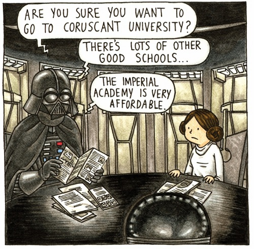 Princess Leia's childhood if Darth Vader had been a normal dad