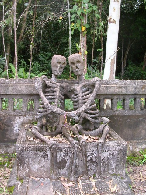 8. Skeletons in love, Nong Khai, Northeast Thailand